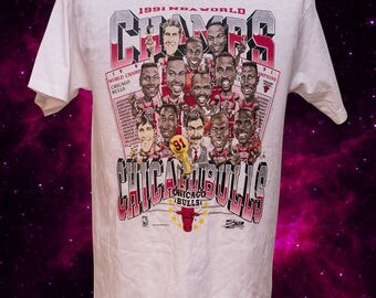 1991 NBA World Champs Chicago Bulls 90s T-Shirt