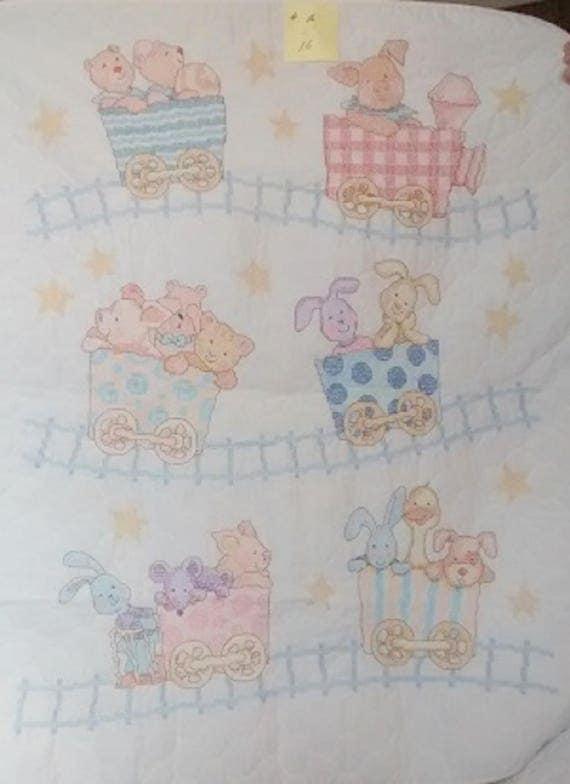 Critters on a Train Quilt