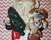 12 Boston Terrier Dog Head Ornaments