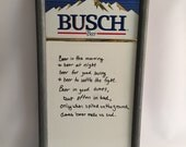 Busch Beer Menu Sign Board White Board Dry Erase Sign For Restaurant Bar