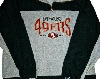 Vintage 1990s 90s Lee Sport San Francisco 49ers Forty Niners Fleece Jacket Mens Sportswear Size Large
