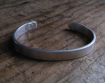 Wide Chunky Sterling Silver Cuff Bracelet