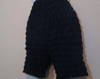 Vintage Black Ruffle vintage Panties 80s granny panties Pin up panties Bloomers Black Panties 80s ruffled lace Knickers M