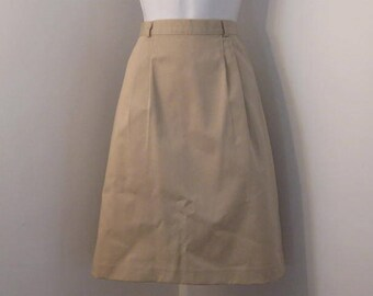 Khaki Pleat Front Skirt size 10