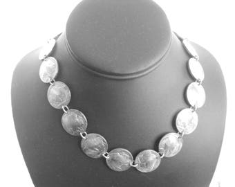 """Coin necklace~Buffalo/Indian nickel necklace-linked coins-18"""""""