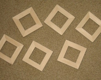 Mini 2x2 unfinished wood picture frames lot of 6