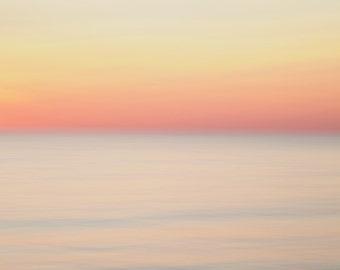 Beach Sunset Minimalist Photography - Coastal Landscape Photography - Minimalist Abstract Photography - Large Minimalist Art - Lake Huron