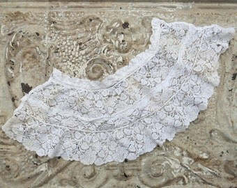 Antique Lace Doll Skirt ... Vintage lace doll apron ... Fine Cotton ... Doll clothing supplies, Sewing supplies, Shabby lace art supply