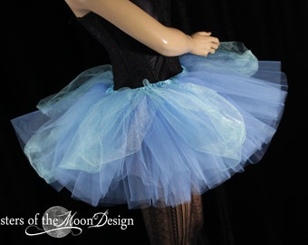 Cinderella tulle tutu skirt blue ball gown inspired dance costume princess party fairytale wedding bachelorette - You Choose Size - SOTMD
