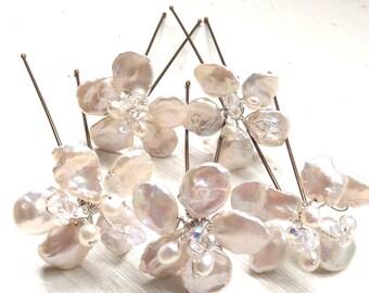 Bridal accessories, wedding, hairpins, bridesmaids accessories, pearls, hair accessories, flowers