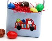 Easter Basket boy candy bucket car applique