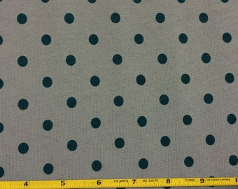 Forest dots on sage 2 way french terry knit fabric 1YD