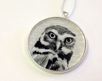 SALE - Ornament - Fauna Collection - Owl  (Packaged) - Original artwork