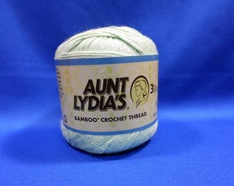 Aunt Lydia's Bamboo crochet thread, size 3, 'honeydew' 150 yard ball