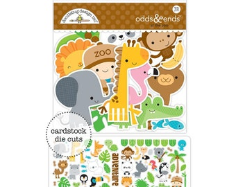 At The Zoo Doodlebug Odds & Ends Die-Cuts 73/Pkg (5600)
