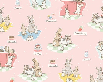 Pink C6020 Main BUNNIES & CREAM by Lauren Nash for Penny Rose Fabrics