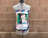 NKOTB New Kids on The Block Donnie Tie Due Tube Top Sz M/L Ready to Ship