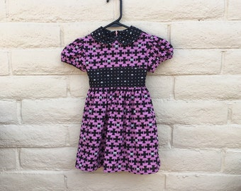 Toddler Girls Skelanimals Black Pink Goth Skull Dress Sz 3