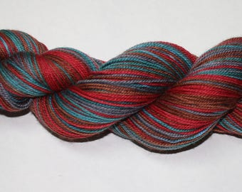 Wild Things Self Striping Hand Dyed Sock Yarn