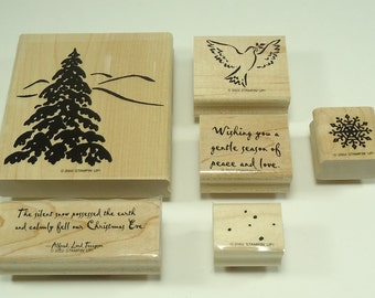 Season Of Peace Wood Mounted Rubber Stamp Set From Stampin Up