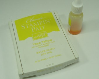 Yo Yo Yellow Stamp Pad From Stampin Up Ink New Reduced Price
