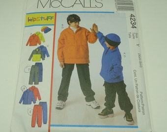 McCall's Children's And Boys Jacket, Top, Pants And Hat Pattern 4234 Size Xsm - Sml