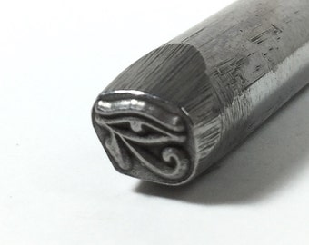 Egyptian Eye of Horus 7.5x5mm 3/8 shank tool design stamp Exclusive