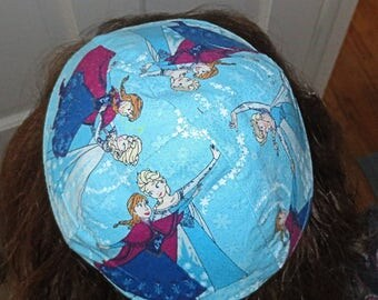Frozen sisters Disney kippah or yarmulke sisters skating---gift for your child, grandchild, special someone