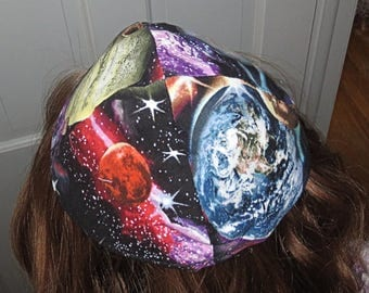 Solar system kippah planets outer space yarmulke great kids kippah and great gift for him