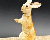 Little Standing Porcelain Rabbit - small bunny sculpture - original art