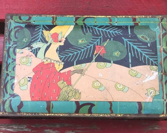 Antique/Vintage Canco Art Nouveau Candy Tin