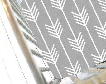 Grey Arrow Fitted Crib Sheet