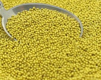 Gold - Glass Deco Beads  jewelry beads art beads crafting beads gold beads scrapbook  - 311-3008