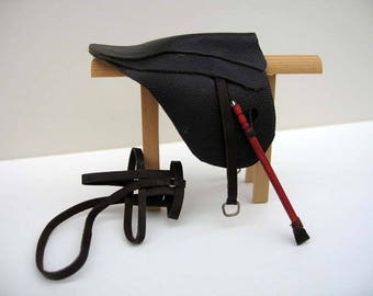 One 12th sale Miniature  Saddle and stand
