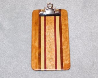 Small / Memo Sized Hardwood Clipboard