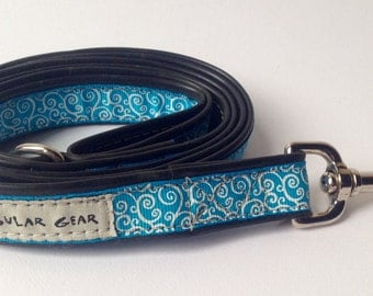 Sky Blue with Spiral Print Leash