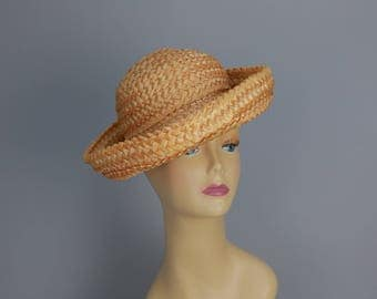 Vintage 60s Straw fashion brimmed hat