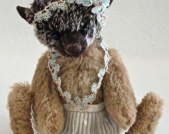 """Mary Dowd Bears-8"""" Luna-Mohair Hedgehog-LE 1/1"""