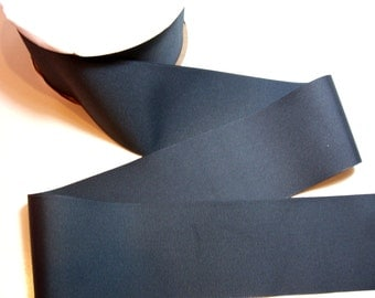 Wide Gray Ribbon, Offray Flannel Grey Grosgrain Ribbon 3 inches wide x 3 yards