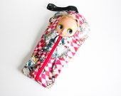 """The Original Blythe Sleepsack from PINKKIS: """"DREAMY"""" Protective Carrying Pouch Featuring Japanese Fabric"""