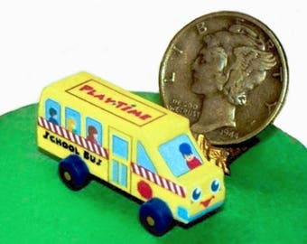 School Bus Toy KIT Dollhouse Miniature