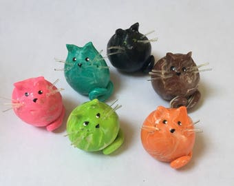 Mini Marble Friend Kitty Cat choose your colors