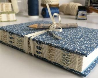 A6 Journal, Notebook, Diary, Sketchbook, Guest book, Handmade, Hand bound, Open spine