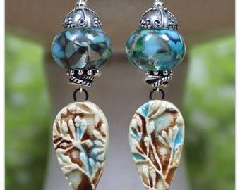 Wild Flowers Lampwork Earrings
