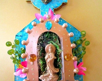 Bathe in infinite love Quan Yin Altar Shrine blessing healing wall art
