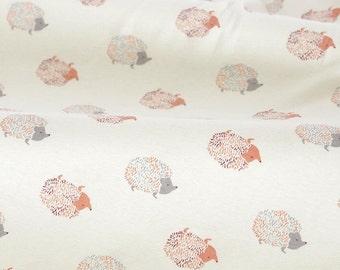 4480 - Hedgehog Cotton Jersey Knit Fabric - 66 Inch (Width) x 1/2 Yard (Length)