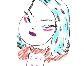 cry bb - print