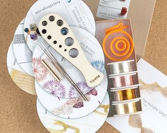 Jewelry making kit, DIY jewelry kit, jewelry kit, bracelet making kit, craft gift kit, crochet kit, gift craft, EXTENDED kit, Crafter Gift