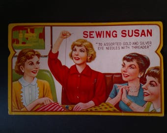 Sewing Susan - Vintage Sewing Needles - 1950s