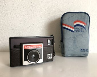 1970's Kodak Instamatic X-15F Camera Retro Bicentennial Denim Camera Case